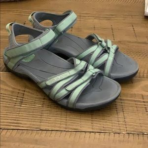 Teva Shoes Zirra Green Teal Sandals Poshmark